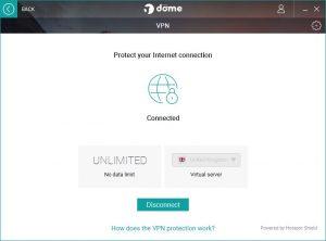 Panda VPN Erfahrung antivirus menu